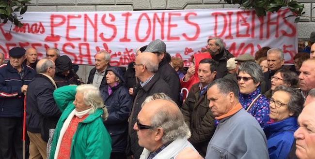 Una de las concentraciones en Granada por pensiones dignas.