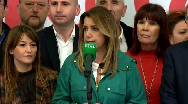 Susana Díaz, en la noche del 2D.