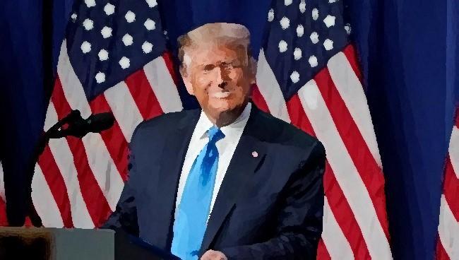 Donald Trump, en una imagen retocada.