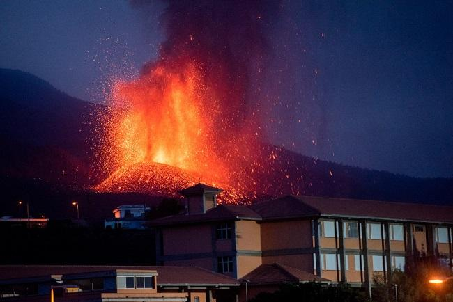 Erupción del volcán Cumbre Vieja, en la Palma.