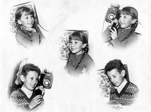 Conchi y Salva, los hermanos Labrac Archilla, madre y tío del autor, en una curiosa composición de principios de los 60, cuyas fotos se tomaron en la Parrilla.