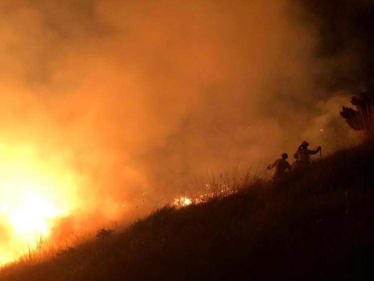 Espectacular imagen del incendio en Sierra Nevada.