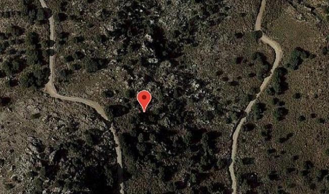 Vista por satélite de la zona donde fue rescatado el ciclista.