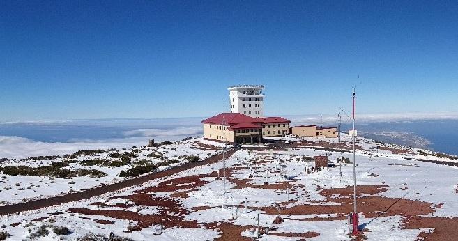 Observatorio atmosférico de Izaña, cerca del Teide.