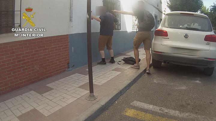 Momento de la detención del pederasta.