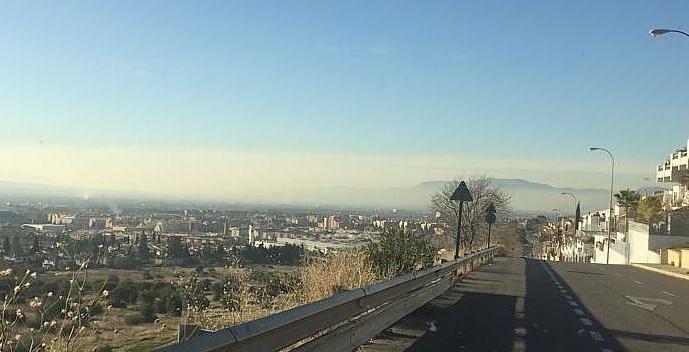 'Boina' de contaminación sobre Granada, el pasado 10 de diciembre.