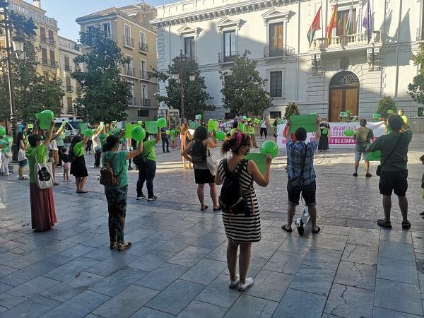 Imagen de la concentración el pasado 9 de julio.