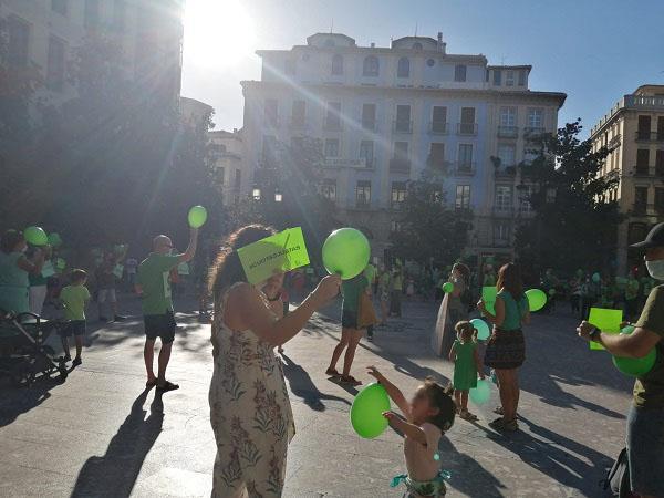 Detalle de la concentración celebrada en la Plaza del Carmen.