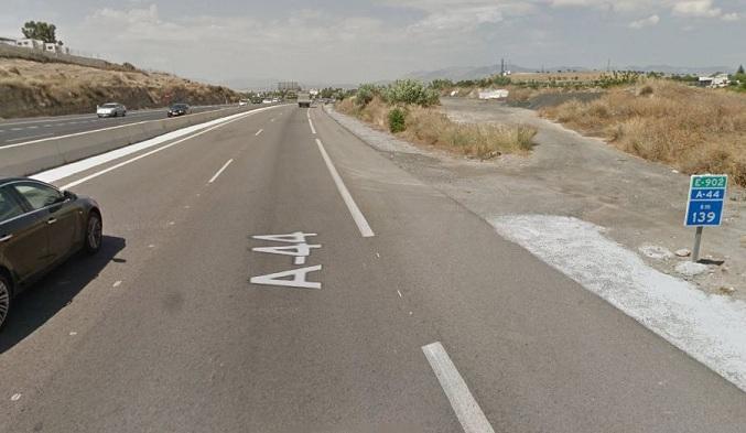 Autovía A-44, a la altura del kilómetro 139, en Otura.
