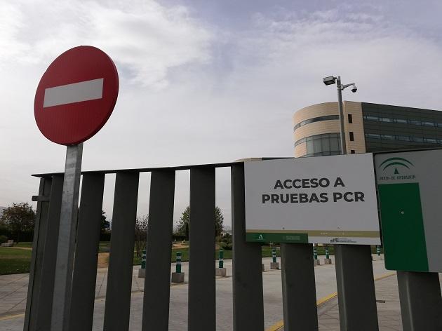 Indicaciones en el Hospital San Cecilio para el acceso a las pruebas PCR.
