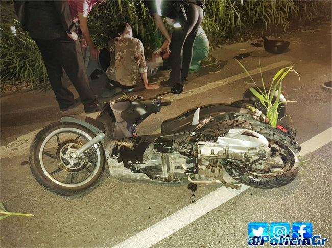 Imagen del accidente en la Avenida de Maracena.