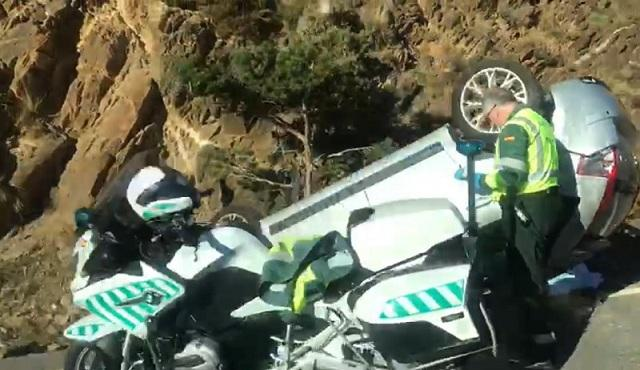 Accidente mortal en la Carretera de Sierra Nevada el mes pasado.