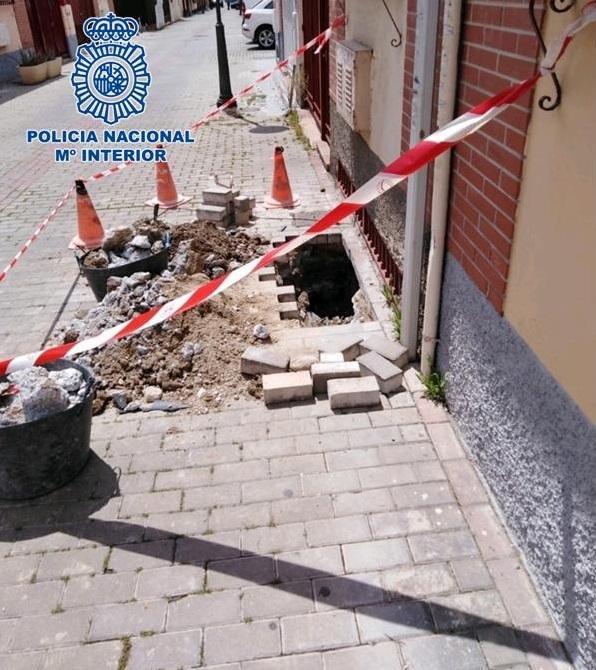 El enganche a la red pública estaba bajo tierra.