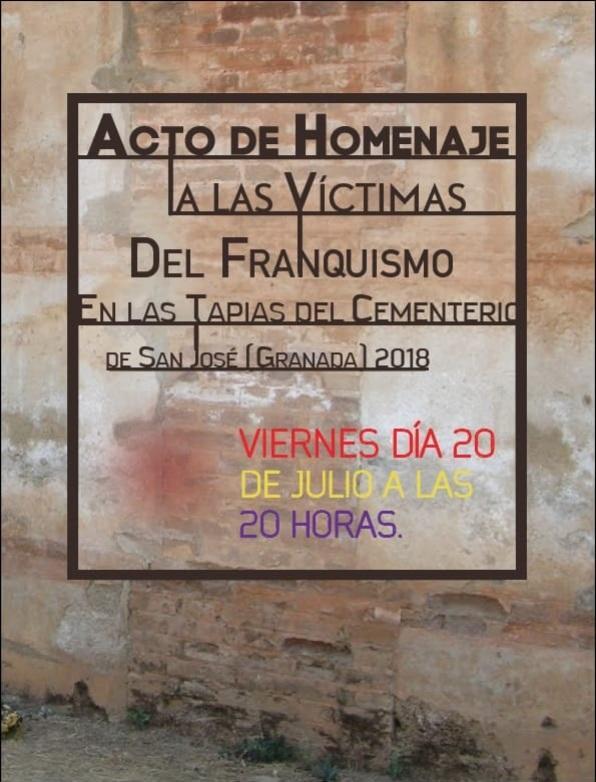 Cartel del acto que se celebrará el 20 de julio.