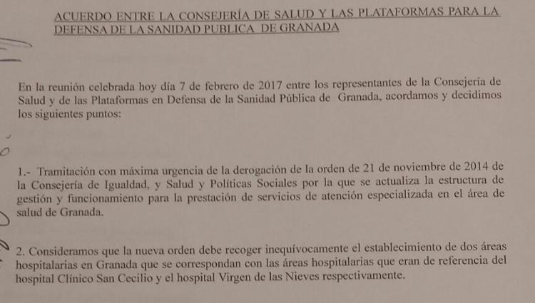 Detalle del acuerdo firmado entre Salud y plataformas.