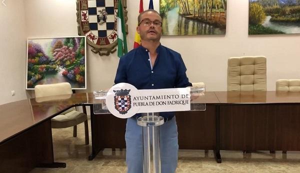 Mariano García, en el vídeo difundido por facebook,