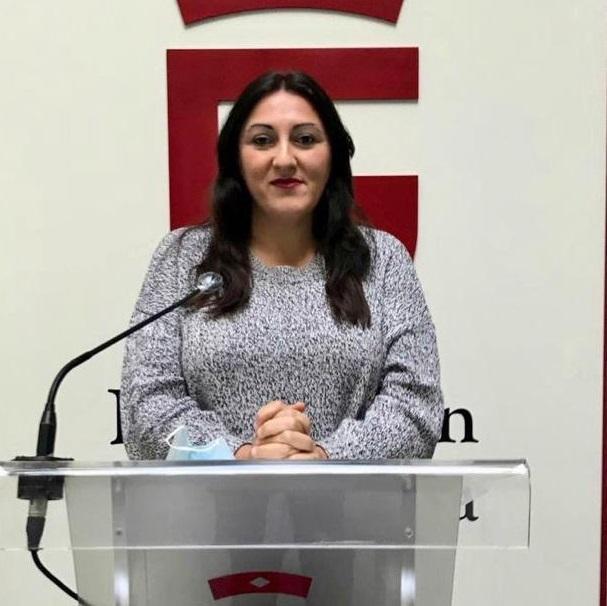 La diputada provincial de Podemos-IU, Alejandra Durán.