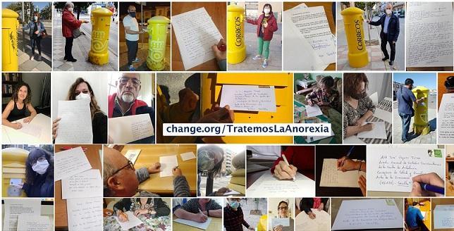 Collage de personas que han enviado cartas a la Junta.