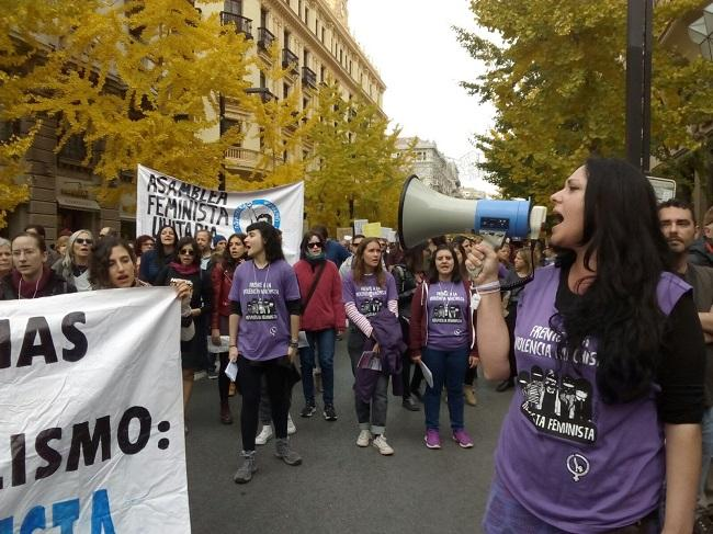 Imagen de la manifestación en Granada del último 25N.