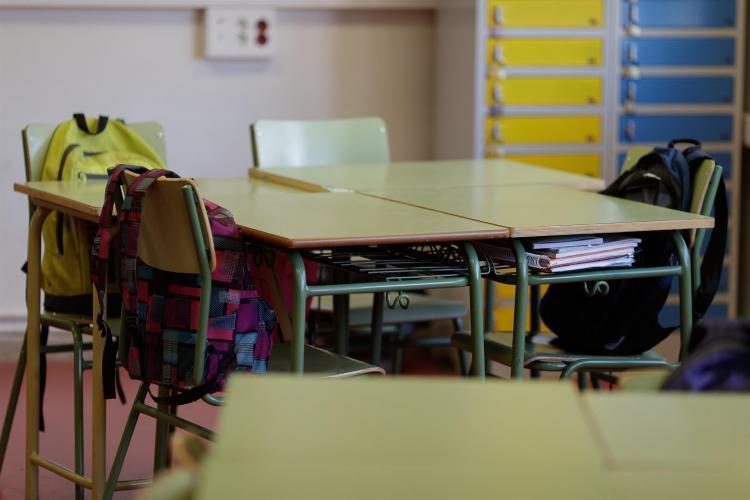 Imagen de archivo de un aula vacía.