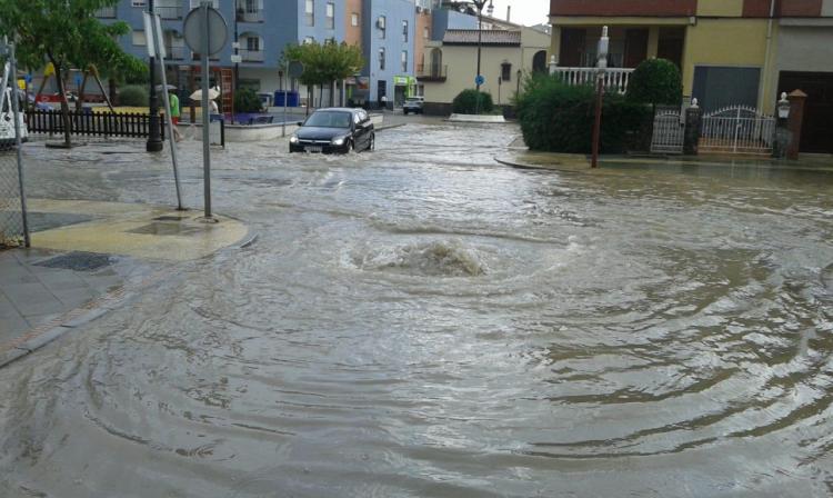 Avenida de la Estación, en Atarfe.