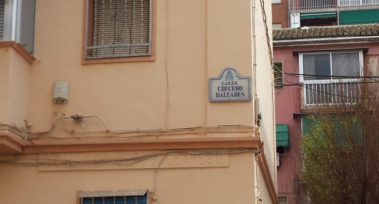 Calle Crucero Baleares, en el corazón del Zaidín.