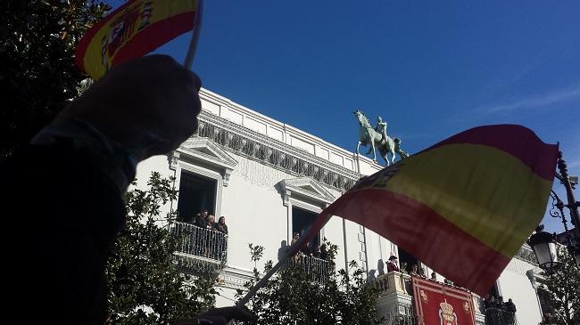 Las banderas de España volverán a ondear en la Plaza del Carmen.
