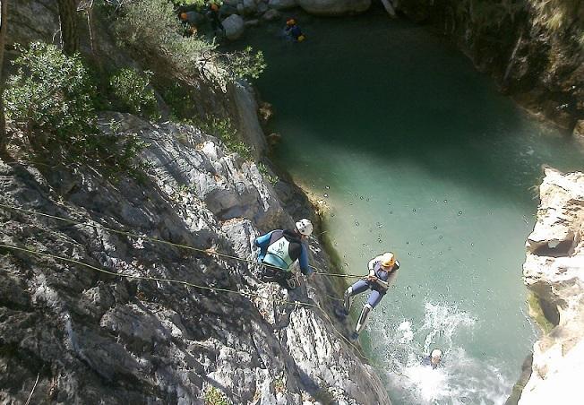 Barranquismo en río Verde, en una imagen de archivo.