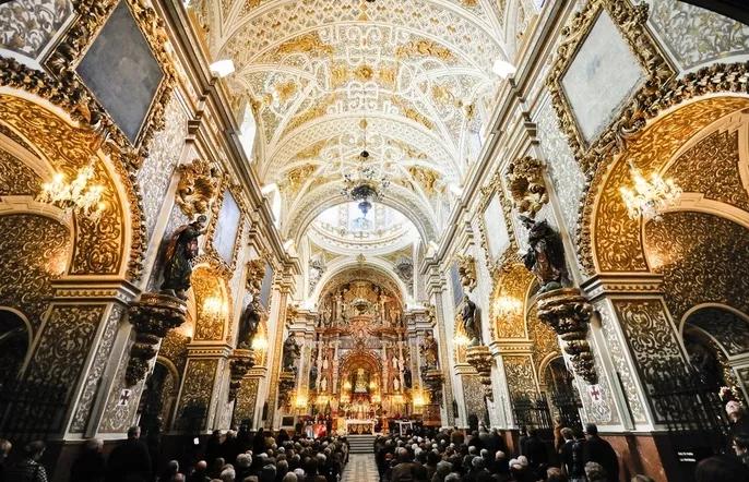 Imagen del interior de la basílica.