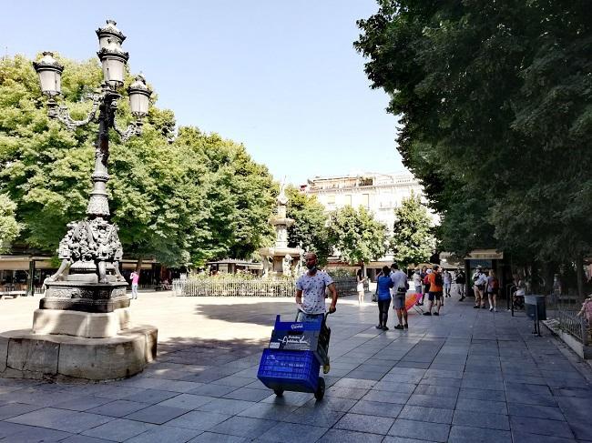 Plaza Bib-Rambla, en Granada capital, este jueves.