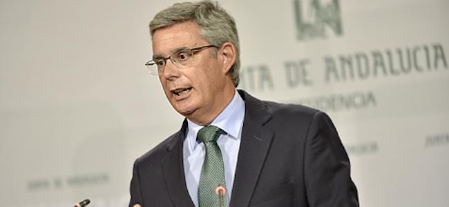 El portavoz del Gobierno andaluz, Juan Carlos Blanco.