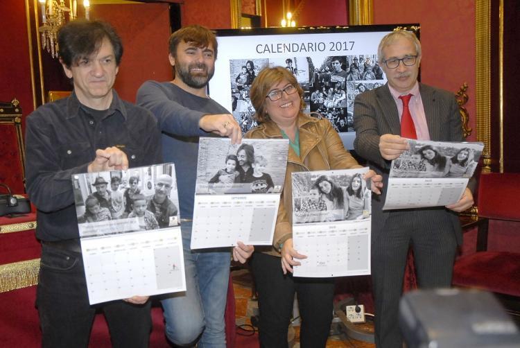 Ana Muñoz con Joan Carles March, Juan Codorníu y David Gómez.