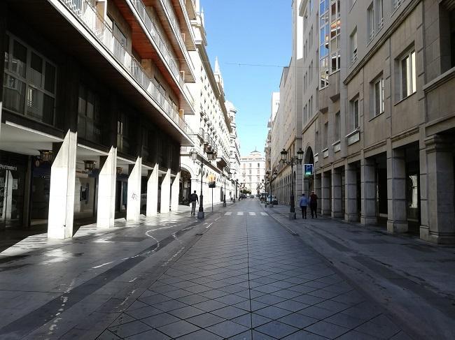 Calle Ganivet de Granada.