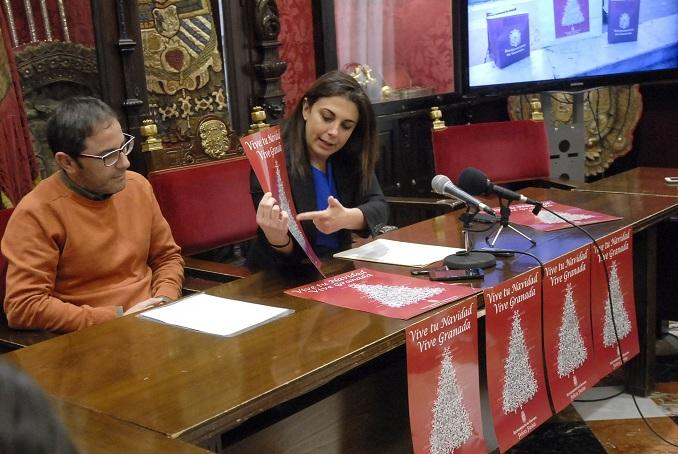 Raquel Ruz presenta la programación navideña junto a Miguel Ángel Fernández.