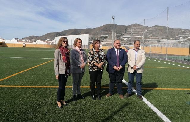 Inauguración del nuevo campo.