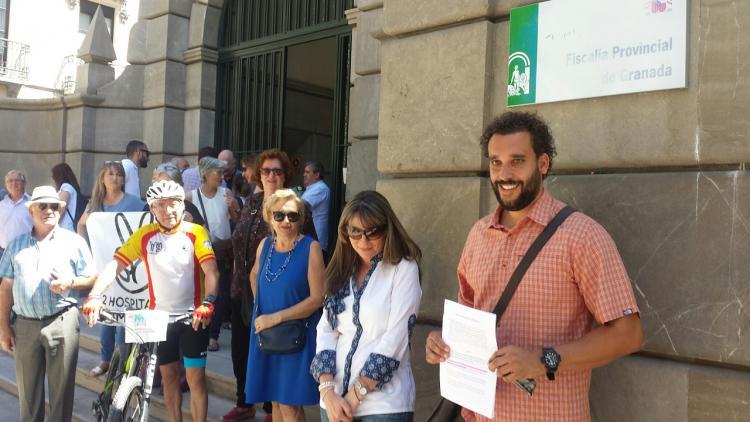 Candel y Espigares a las puertas de la Fiscalía.