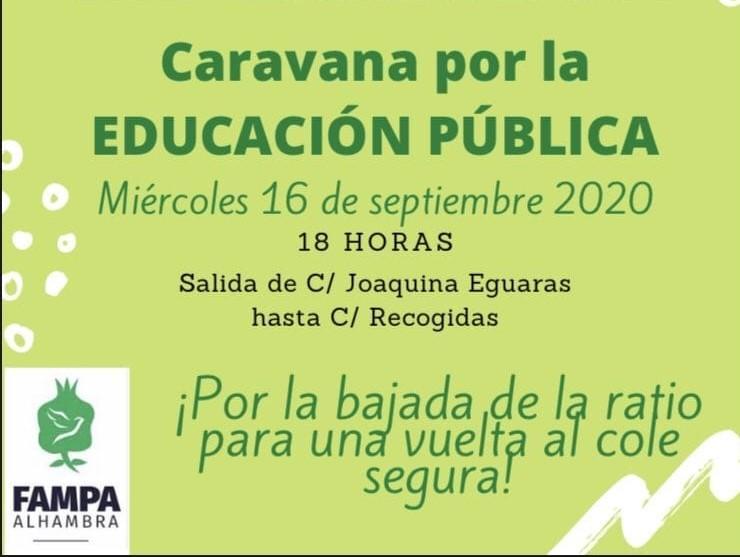 La caravana partirá a las 18.00 horas de Joaquina Eguaras.