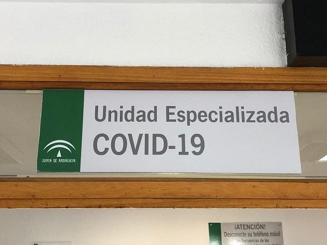 Cartel de una Unidad Covid-19.