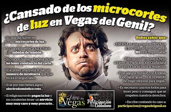 Cartel de la campaña para recopilar información sobre los microcortes de luz.