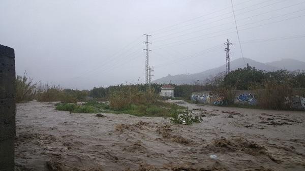 Cauce del río Verde, en Almuñécar.