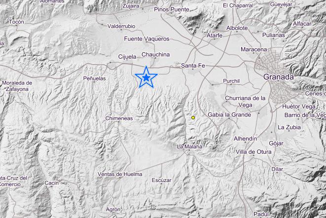El epicentro ha estado localizado en Chauchina.