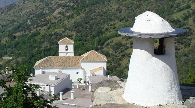 Chimenea típica de Bubión, uno de los pueblos más bellos de España.
