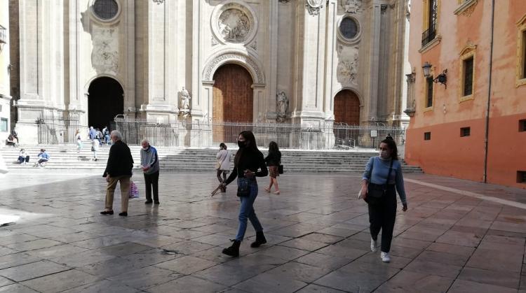 Imagen de la Plaza de las Pasiegas, este mediodía.
