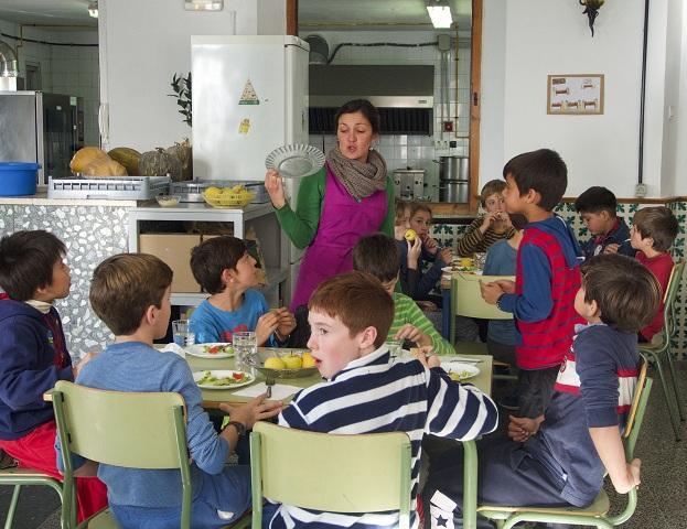 Comedor del colegio Gómez Moreno.