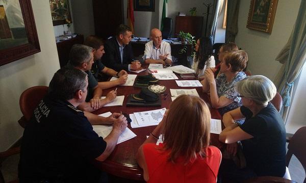 Reunión de la comisión de seguimiento contra la violencia de género.
