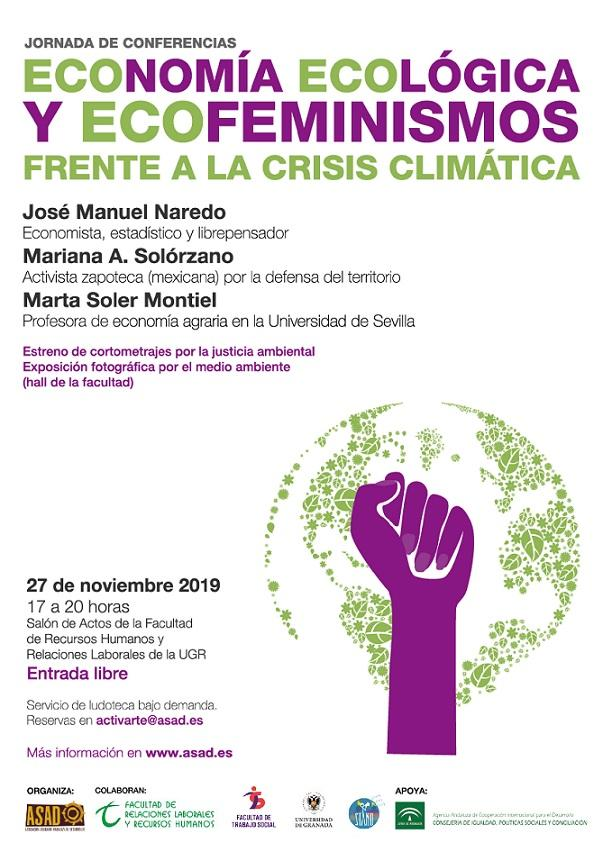 Cartel de la jornada de conferencias.