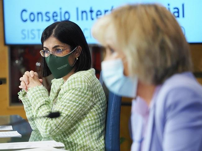 La ministra de Sanidad con la consejera de Sanidad de Castilla y León.