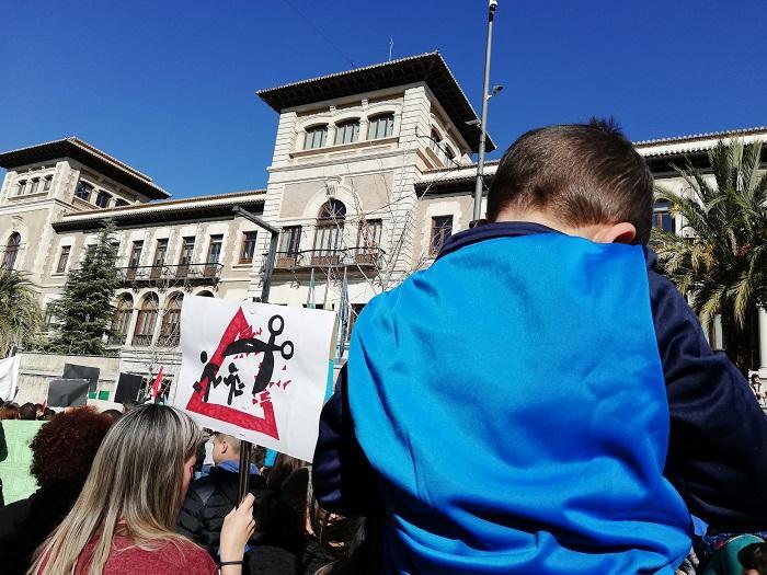 Detalle de la movilización educativa del pasado enero.