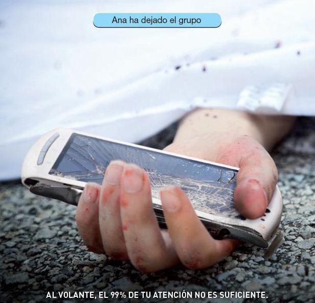 Campaña de la DGT para evitar distracciones, la principal causa de muerte al volante.