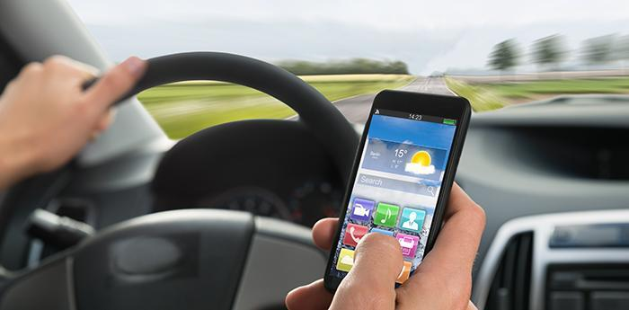 El móvil, una de las principales distracciones.